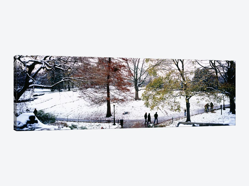 High angle view of a group of people in a park, Central Park, Manhattan, New York City, New York, USA by Panoramic Images 1-piece Art Print