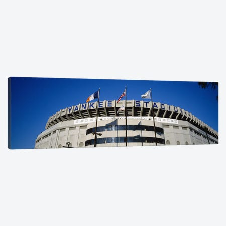 Flags in front of a stadium, Yankee Stadium, New York City, New York, USA #2 Canvas Print #PIM5600} by Panoramic Images Canvas Art