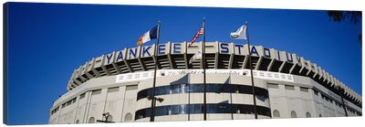 Flags in front of a stadium, Yankee Stadium, New York City, New York, USA #2 Canvas Print #PIM5600