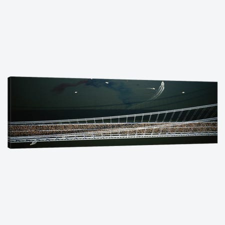 Aerial view of a crowd running on a bridgeNew York City Marathon, New York City, New York, USA Canvas Print #PIM5601} by Panoramic Images Canvas Artwork