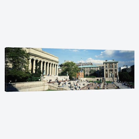 Group of people in front of a library, Library Of Columbia University, New York City, New York, USA Canvas Print #PIM5602} by Panoramic Images Canvas Artwork