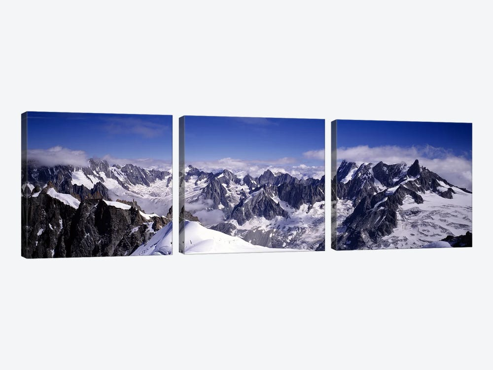 The Alps Under Snow by Panoramic Images 3-piece Canvas Art Print