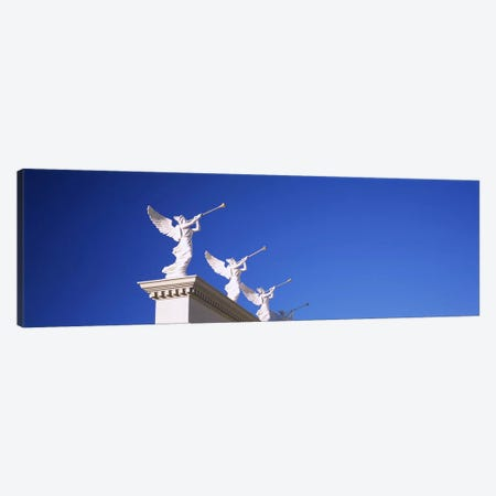 Low angle view of statues on a wall, Caesars Place, Las Vegas, Nevada, USA Canvas Print #PIM5605} by Panoramic Images Canvas Print