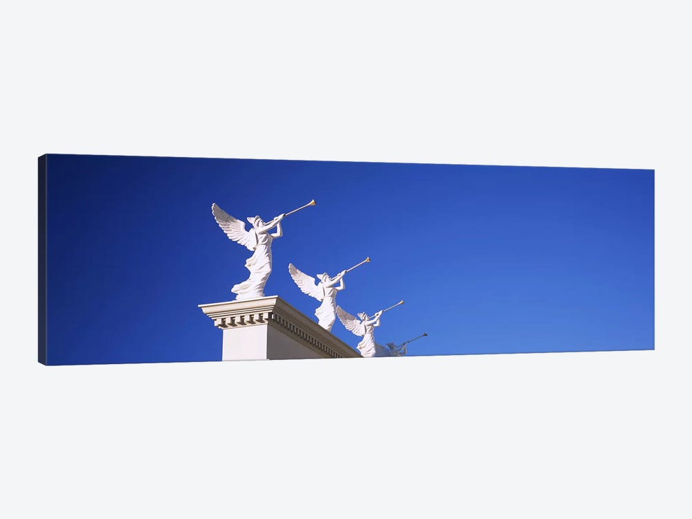 Low angle view of statues on a wall, Caesars Place, Las Vegas, Nevada, USA by Panoramic Images 1-piece Canvas Print