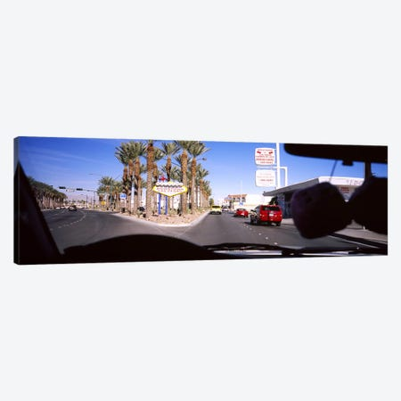Traffic entering downtown, Las Vegas, Nevada, USA Canvas Print #PIM5609} by Panoramic Images Canvas Wall Art