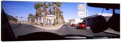 Traffic entering downtown, Las Vegas, Nevada, USA Canvas Print #PIM5609