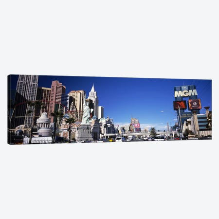 Buildings in a city, The Strip, Las Vegas, Nevada, USA Canvas Print #PIM5611} by Panoramic Images Canvas Art Print