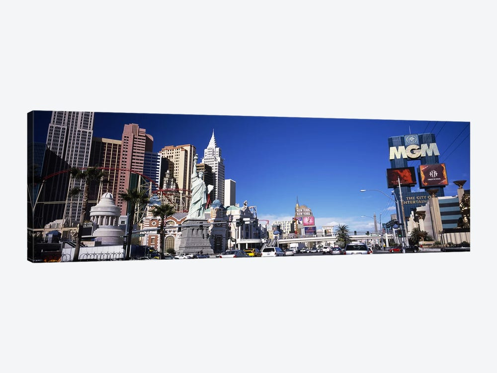 Buildings in a city, The Strip, Las Vegas, Nevada, USA by Panoramic Images 1-piece Canvas Wall Art