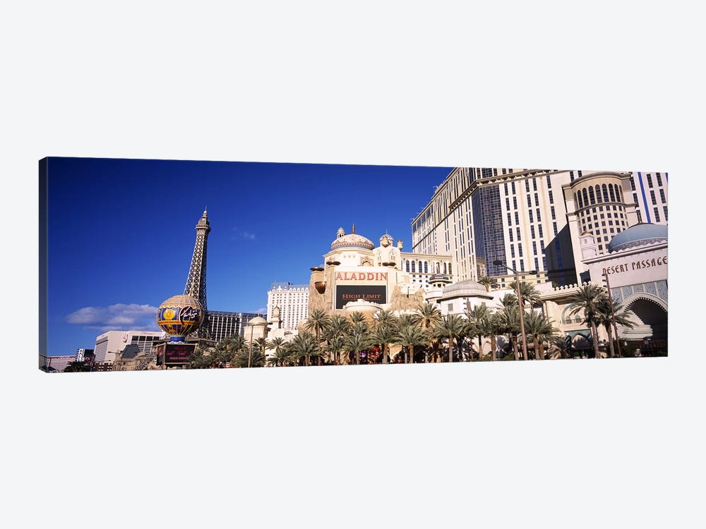 Hotel in a city, Aladdin Resort And Casino, The Strip, Las Vegas, Nevada, USA by Panoramic Images 1-piece Canvas Art Print