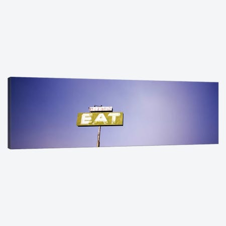 """Old Roadside """"EAT"""" Signage Along Highway 395, California, USA Canvas Print #PIM5613} by Panoramic Images Canvas Print"""