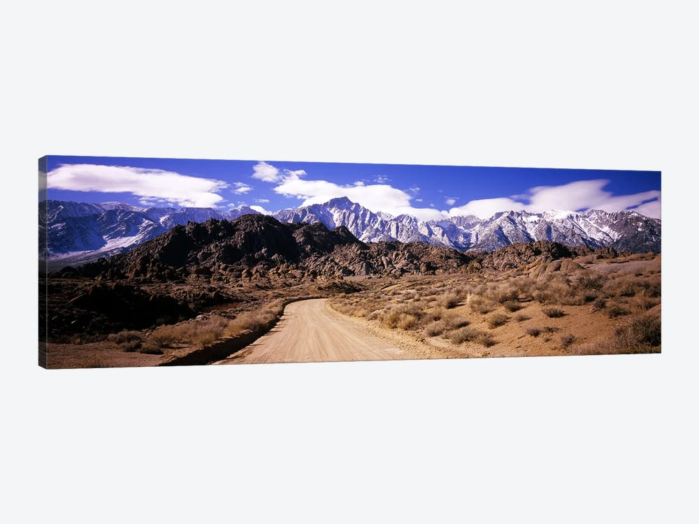 Mountainside Dirt Road Near Lone Pine Peak, Sierra Nevada, California, USA by Panoramic Images 1-piece Canvas Artwork