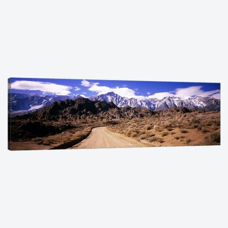 Mountainside Dirt Road Near Lone Pine Peak, Sierra Nevada, California, USA Canvas Print #PIM5615} by Panoramic Images Canvas Art