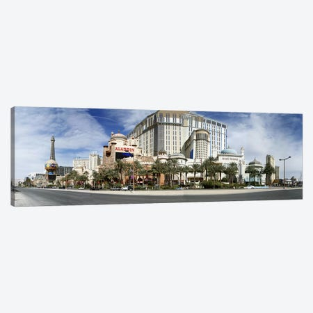 Clouds over buildings in a city, Digital Composite of the Las Vegas Strip, Las Vegas, Nevada, USA Canvas Print #PIM5617} by Panoramic Images Canvas Wall Art