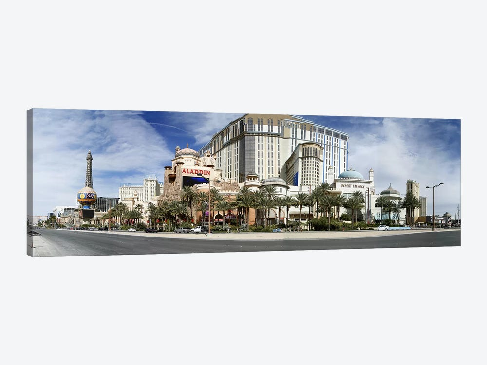 Clouds over buildings in a city, Digital Composite of the Las Vegas Strip, Las Vegas, Nevada, USA by Panoramic Images 1-piece Canvas Artwork