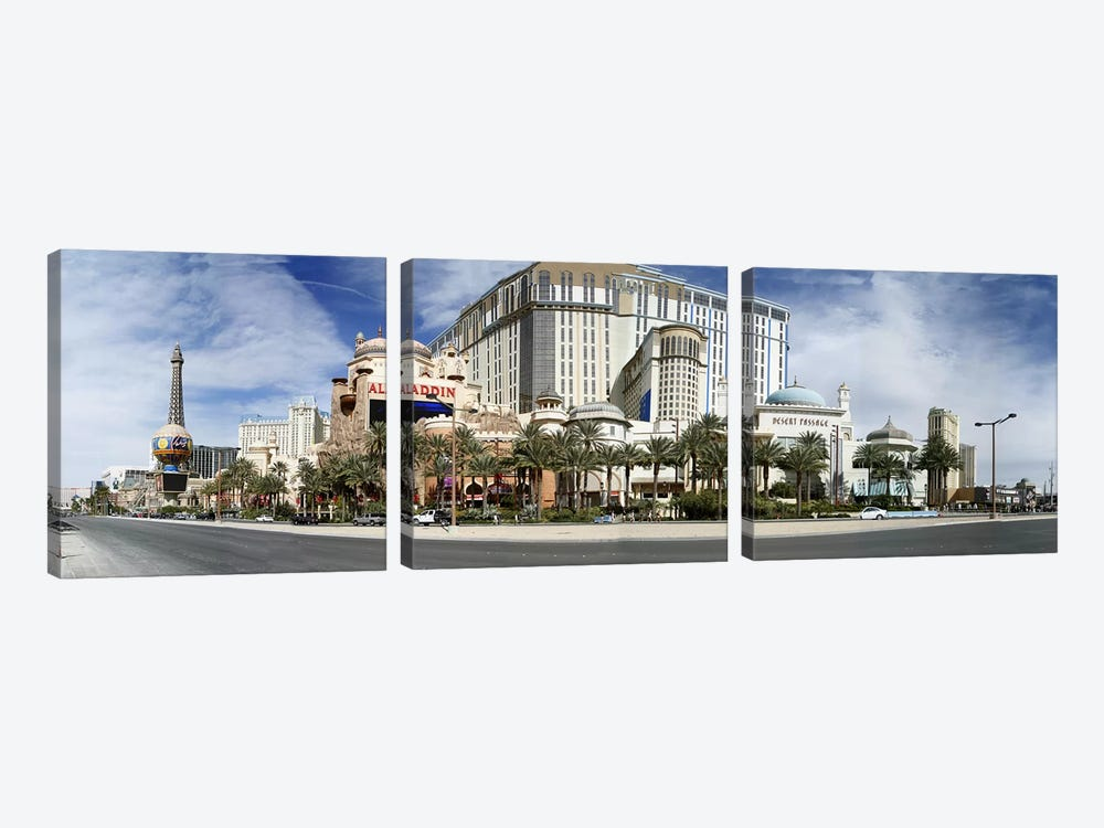 Clouds over buildings in a city, Digital Composite of the Las Vegas Strip, Las Vegas, Nevada, USA by Panoramic Images 3-piece Canvas Art