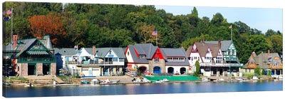 Boathouse Row at the waterfront, Schuylkill River, Philadelphia, Pennsylvania, USA Canvas Print #PIM5620