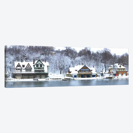 Boathouse Row at the waterfront, Schuylkill River, Philadelphia, Pennsylvania, USA Canvas Print #PIM5621} by Panoramic Images Canvas Art