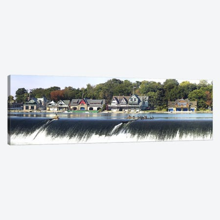 Boathouse Row at the waterfront, Schuylkill River, Philadelphia, Pennsylvania, USA #2 Canvas Print #PIM5622} by Panoramic Images Canvas Wall Art