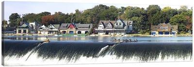 Boathouse Row at the waterfront, Schuylkill River, Philadelphia, Pennsylvania, USA #2 Canvas Print #PIM5622
