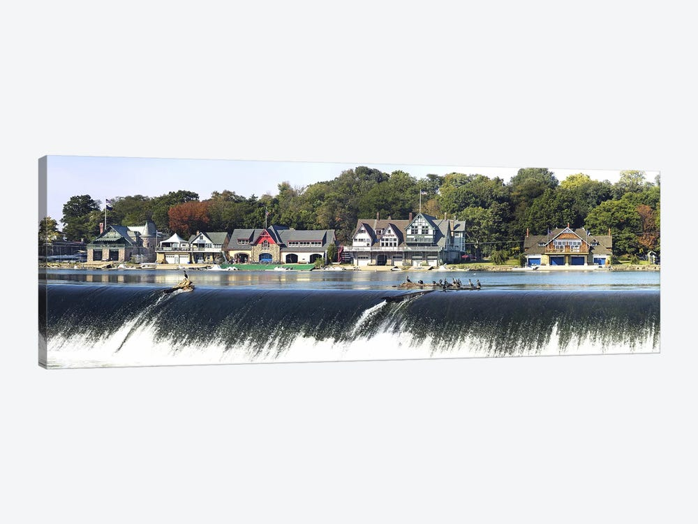 Boathouse Row at the waterfront, Schuylkill River, Philadelphia, Pennsylvania, USA #2 by Panoramic Images 1-piece Canvas Wall Art