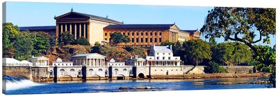 Art museum at the waterfront, Philadelphia Museum Of Art, Schuylkill River, Philadelphia, Pennsylvania, USA Canvas Art Print