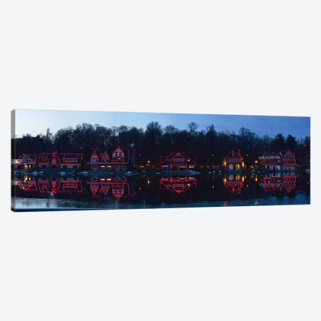 Boathouse at the waterfront, Schuylkill River, Philadelphia, Pennsylvania, USA Canvas Print #PIM5626} by Panoramic Images Canvas Art Print