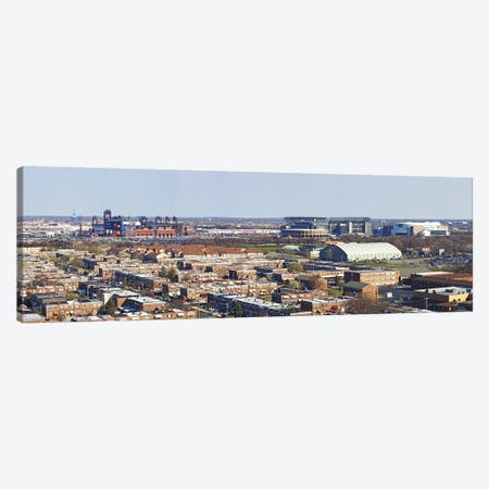 High angle view of a baseball stadium in a city, Eagles Stadium, Philadelphia, Pennsylvania, USA Canvas Print #PIM5627} by Panoramic Images Canvas Print