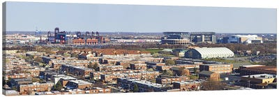 High angle view of a baseball stadium in a city, Eagles Stadium, Philadelphia, Pennsylvania, USA Canvas Print #PIM5627