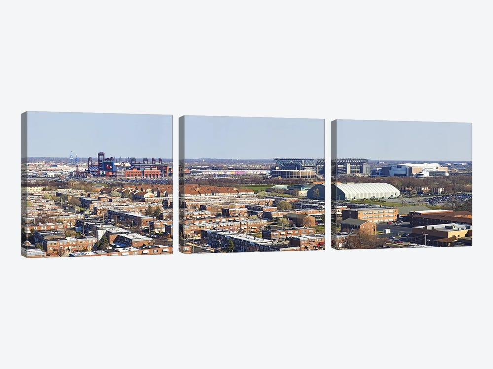 High angle view of a baseball stadium in a city, Eagles Stadium, Philadelphia, Pennsylvania, USA by Panoramic Images 3-piece Art Print