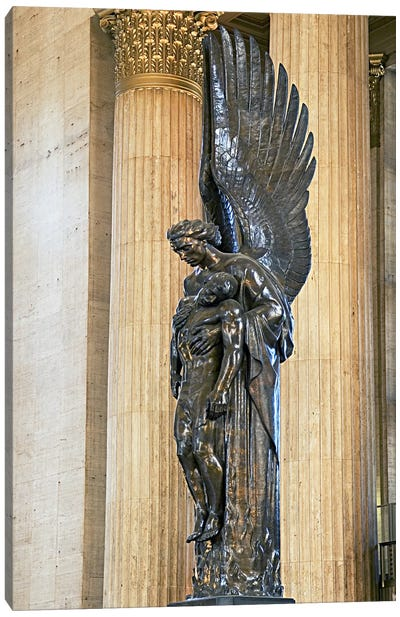 Close-up of a war memorial statue at a railroad station, 30th Street Station, Philadelphia, Pennsylvania, USA Canvas Art Print