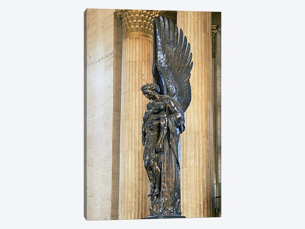 Close-up of a war memorial statue at a railroad station, 30th Street Station, Philadelphia, Pennsylvania, USA by Panoramic Images 1-piece Art Print
