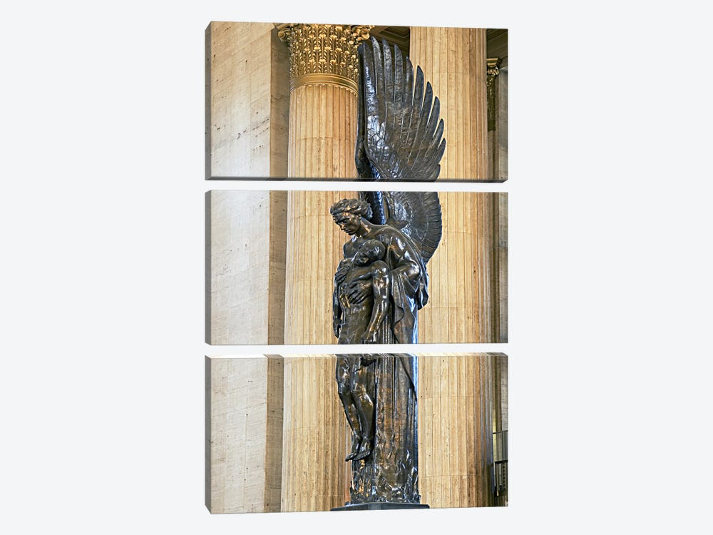 Close-up of a war memorial statue at a railroad station, 30th Street Station, Philadelphia, Pennsylvania, USA by Panoramic Images 3-piece Art Print