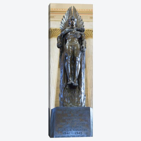Low angle view of a war memorial statue at a railroad station, 30th Street Station, Philadelphia, Pennsylvania, USA Canvas Print #PIM5631} by Panoramic Images Canvas Print