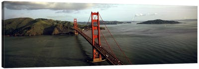 Bridge over a bay, Golden Gate Bridge, San Francisco, California, USA #2 Canvas Art Print