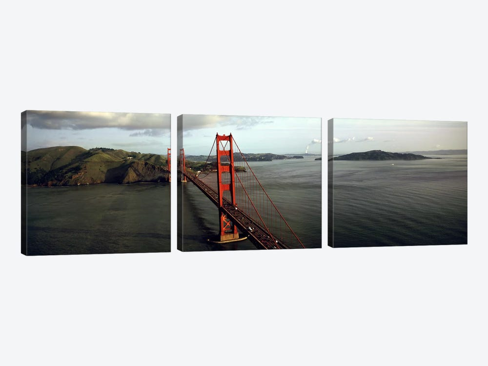 Bridge over a bay, Golden Gate Bridge, San Francisco, California, USA #2 by Panoramic Images 3-piece Canvas Art