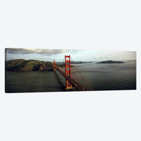 Bridge over a bay, Golden Gate Bridge, San Francisco, California, USA #2 3-Piece Canvas #PIM5639} by Panoramic Images Canvas Print