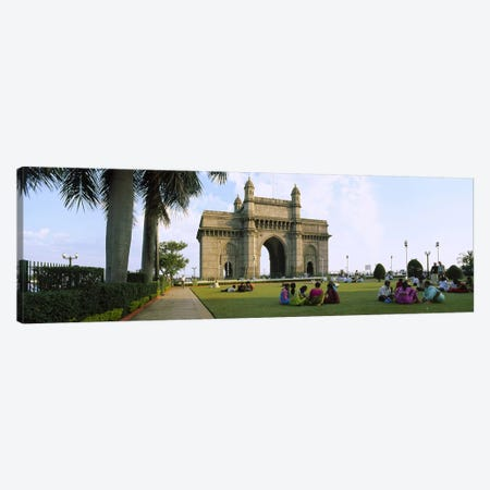Tourist in front of a monument, Gateway Of India, Mumbai, Maharashtra, India Canvas Print #PIM5649} by Panoramic Images Canvas Art