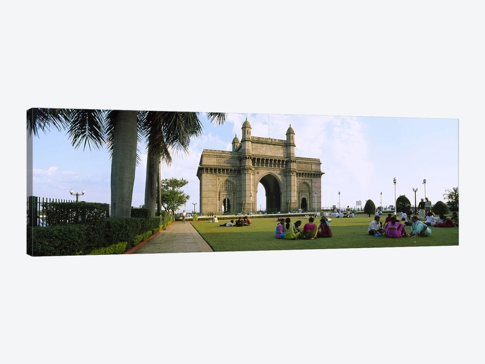Tourist in front of a monument, Gateway Of India, Mumbai, Maharashtra, India by Panoramic Images 1-piece Art Print