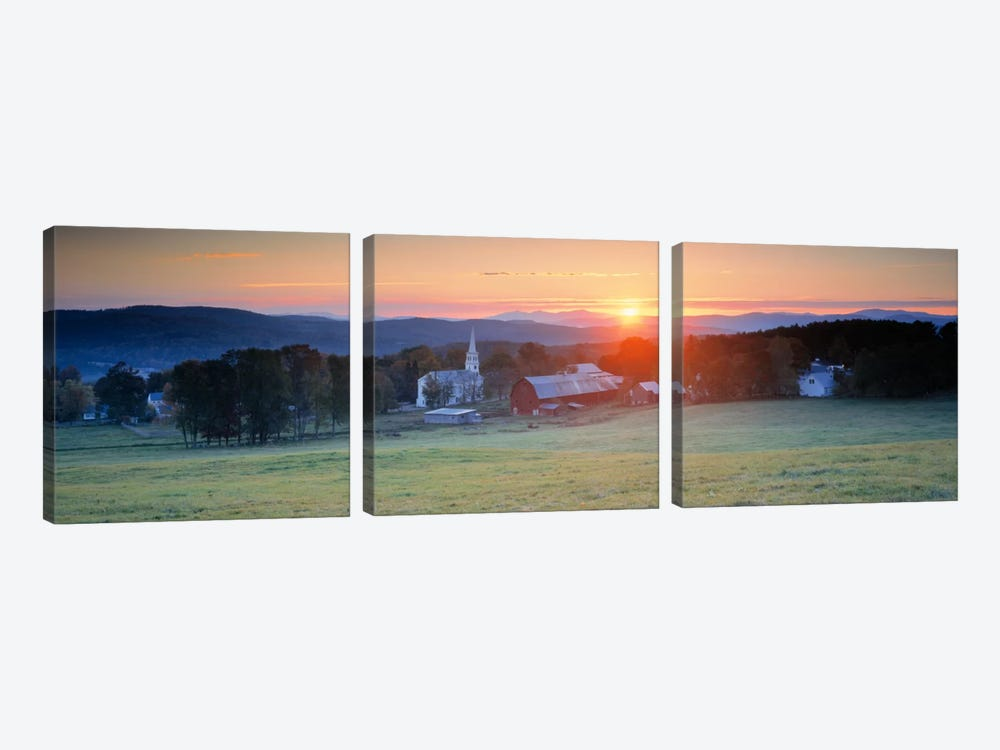Sunrise Peacham VT USA by Panoramic Images 3-piece Canvas Art