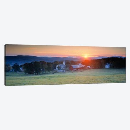 Sunrise Peacham VT USA 3-Piece Canvas #PIM564} by Panoramic Images Canvas Artwork