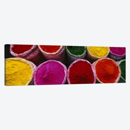 Spices For Sale At A Market, Mathura, Braj, Uttar Pradesh, India Canvas Print #PIM5650} by Panoramic Images Canvas Print
