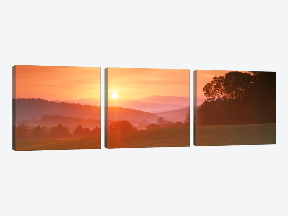 Sunrise Caledonia VT USA 3-piece Art Print