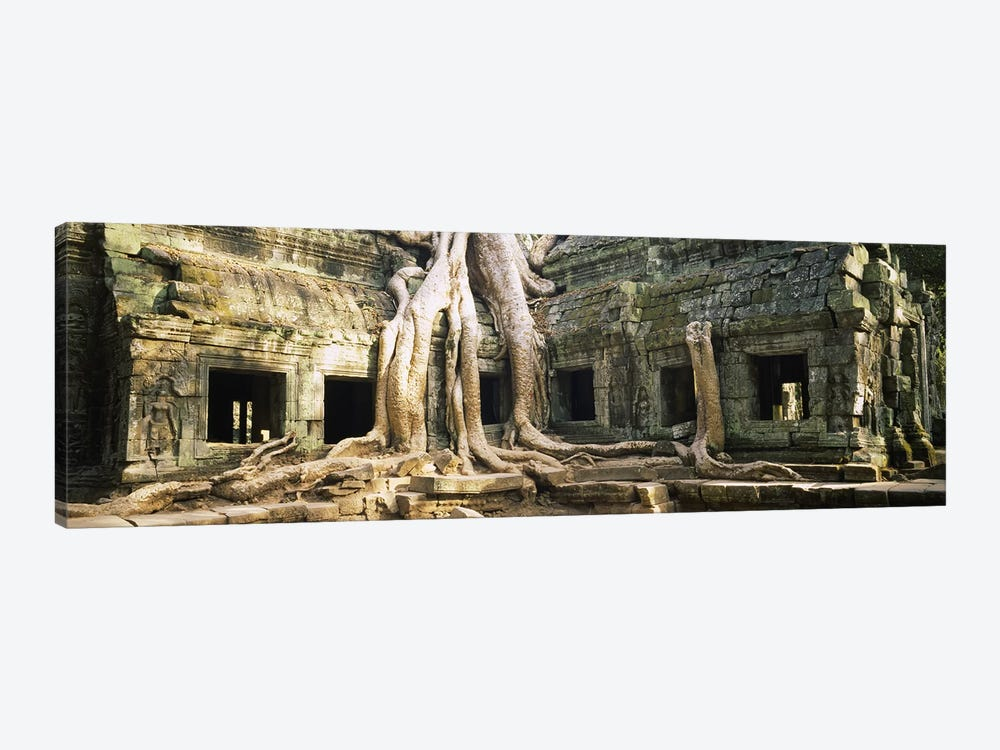 Old ruins of a building, Angkor Wat, Cambodia by Panoramic Images 1-piece Canvas Art Print