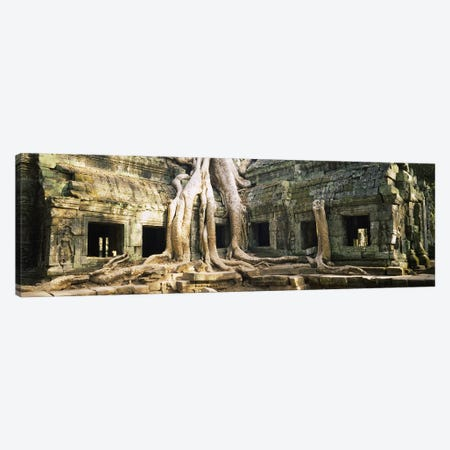 Old ruins of a building, Angkor Wat, Cambodia Canvas Print #PIM5661} by Panoramic Images Canvas Art