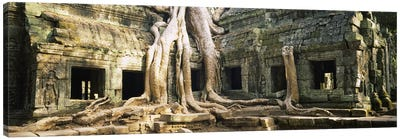 Old ruins of a building, Angkor Wat, Cambodia Canvas Art Print
