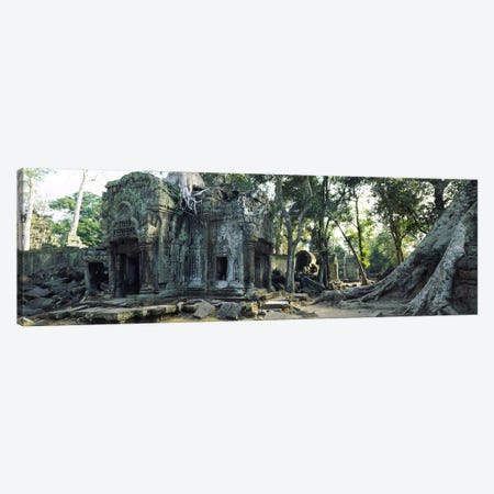 Old ruins of a building, Angkor Wat, Cambodia #2 Canvas Print #PIM5663} by Panoramic Images Canvas Wall Art