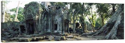 Old ruins of a building, Angkor Wat, Cambodia #2 Canvas Print #PIM5663