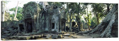 Old ruins of a building, Angkor Wat, Cambodia #2 Canvas Art Print