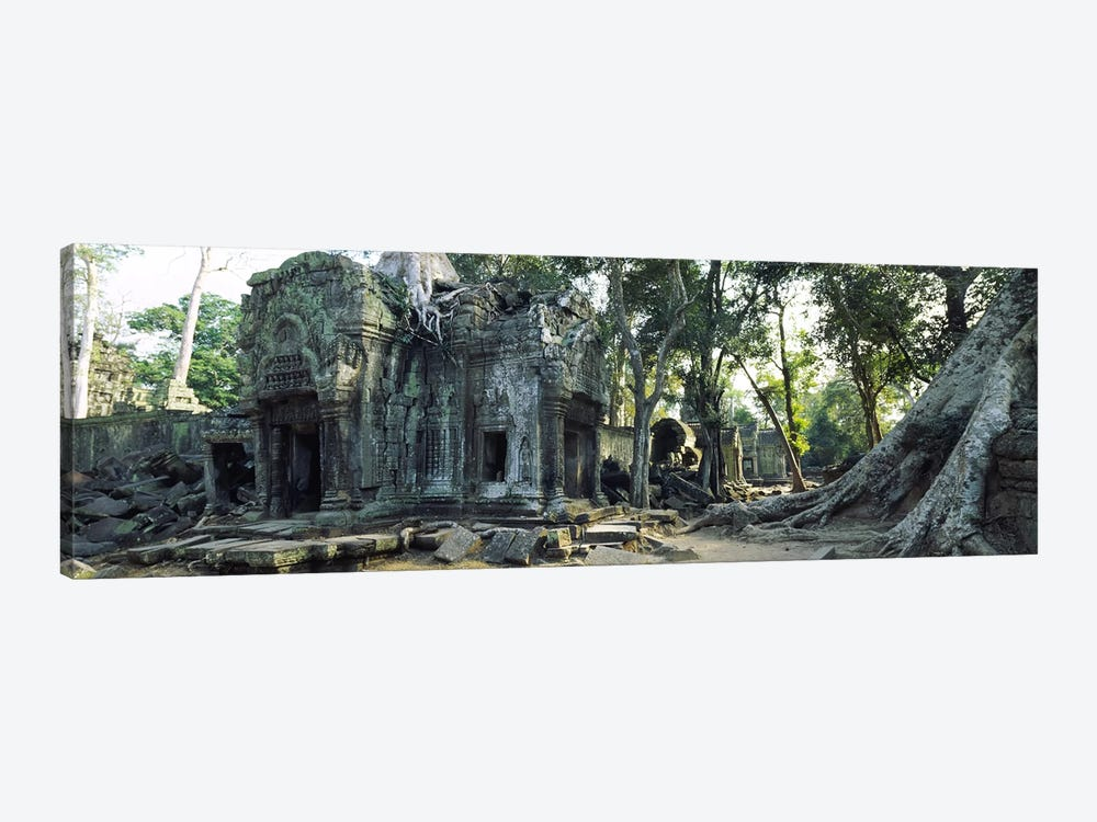 Old ruins of a building, Angkor Wat, Cambodia #2 1-piece Canvas Print