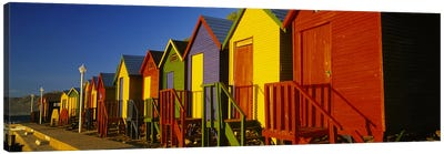 Beach huts in a row, St James, Cape Town, South Africa Canvas Print #PIM5665